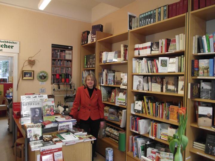 Buchhändlerin Christina Weißenberger
